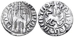 World Coins - Kingdom of Cilician Armenia. Hetoum I and Zabel. 1226-1271. AR Tram (2.89 gm, 21mm). Bedoukian 1192