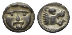 Ancient Coins - Pisidia, Selge. Circa 250-190 BC. AR Hemiobol (0.45 gm, 8mm). SNG Aulock 5275