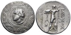 Ancient Coins - Macedonian Kingdom. Antigonos II Gonatas. 277/6-239 BC. AR Tetradrachm (16.91 gm, 31mm). Amphipolis mint. SNG Saroglos 926-7