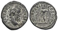 Ancient Coins - Septimius Severus. 193-211 AD. AR Denarius (3.05 gm, 20mm). Rome mint. Struck 209-210 AD. RIC 240