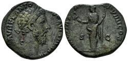 Ancient Coins - Marcus Aurelius, 161-180 AD. AE Sestertius (18.12 gm). Rome struck 177/8 AD. RIC 1227