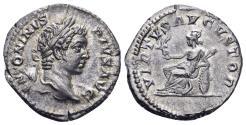 Ancient Coins - Caracalla. 198-217 AD. AR Denarius (3.35 gm, 19mm). Rome mint. Struck 207 AD. RIC IV 176