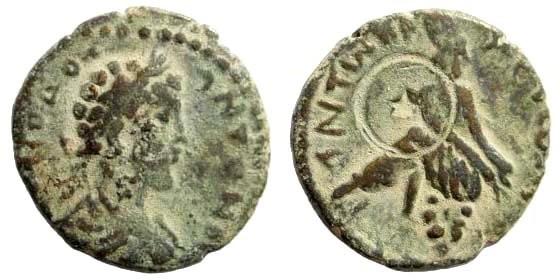 Ancient Coins - Syria, Decapolis. Gerasa. Commodus, 161-180 AD. AE 19mm (2.75 gm, 12h). Spijkerman 22