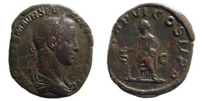 Ancient Coins - Severus Alexander. 222-235 AD. AE Sestertius (17.90 gm). Struck 227 AD. RIC IV 468; Cohen 326