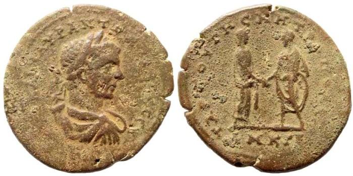 Ancient Coins - Kilikia, Tarsos. Elagabalus, 218-222 AD. AE 31mm (12.58 gm). Unlisted die combination