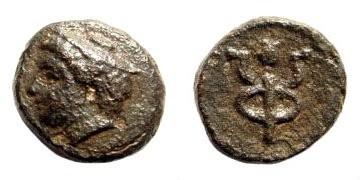 Ancient Coins - Ionia, Phokaia. Circa 3rd-2nd century BC. AE 12mm (1.77 gm). SNG Copenhagen 1044; BMC Ionia pg. 217, 98