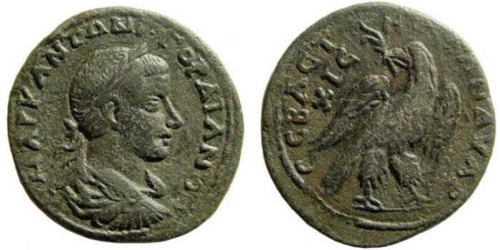 Ancient Coins - Cilicia, Elaiousa-Sebaste. Gordian III. 238-244 AD. AE 31mm (9.61 gm). SNG Levante 852 (same dies)