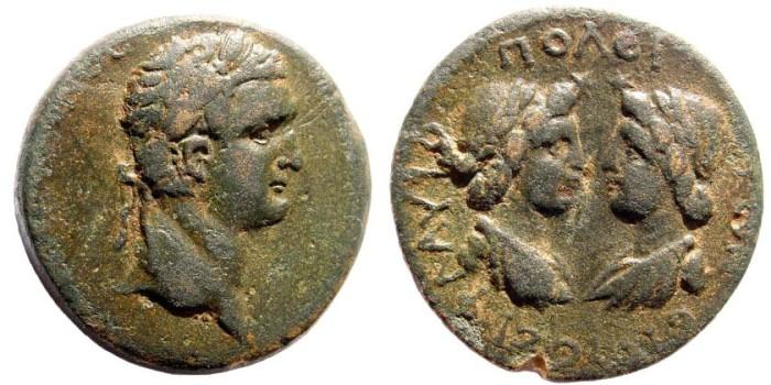 Ancient Coins - Cilicia, Flaviopolis. Domitian, 81-96 AD, AE 26mm (15.5 gm.). RPC 1757