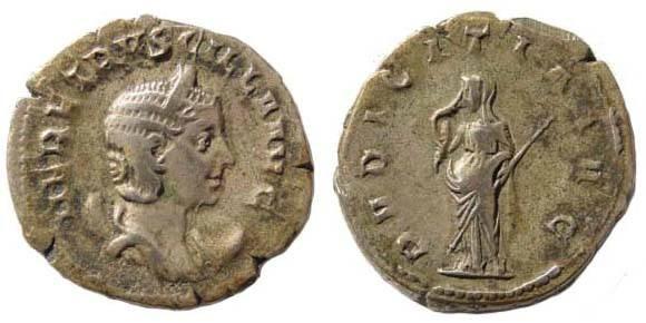 Ancient Coins - Herennia Etruscilla, wife of Trajan Decius, Antoninianus