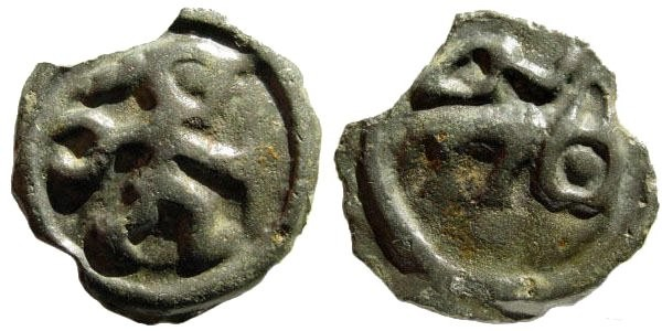 Ancient Coins - Gallia Belgica (from the Seine to the Rhine), the Remi. Cast Potin (5.74 gm, 20mm), ca. 100-60 BC. Scheers 191