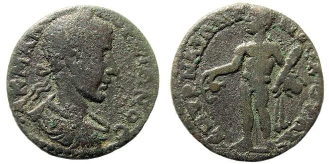 Ancient Coins - Ionia, Smyrna. Gordian III, 238-244 AD. AE 22mm (4.90 gm). SNG von Aulock 2230 (same dies)