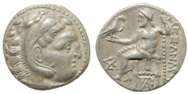 Ancient Coins - Macedonian Kingdom, Alexander III, 336-323 BC, AR Drachm (4.44 gm, 18mm). Colophon mint, 310-301 BC. Price 1792