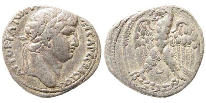 Ancient Coins - Syria, Seleucis and Pieria. Antioch. Otho. 69 AD. AR Tetradrachm (14.18 gm, 27mm). Dated year 1 (69 AD). Prieur 101; RPC I 4199