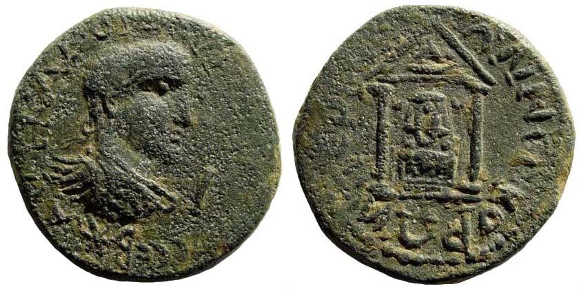 Ancient Coins - Pamphylia, Perge. Aurelian, 270-275 AD. AE 27mm (13.77 gm). SNG BN Paris 615