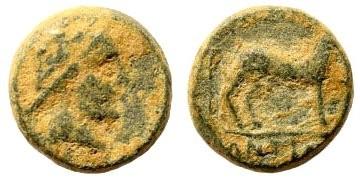 Ancient Coins - Seleucid Kingdom. Antiochus III. 223-187 BC. AE 13mm (4.05 gm). Uncertain mint associated with Antioch. SNG Spear 631
