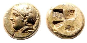 Ancient Coins - Ionia, Phokaia. Circa 478-387 BC. EL Hekte (2.55 gm, 10mm). Bodenstedt Em. 91; SNG Copenhagen 1028