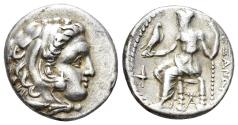 Ancient Coins - Macedonian Kingdom. Alexander III 'the Great', 336-323 BC. AR Drachm (4.23 gm, 16mm). Sardes mint, struck under Philip III, circa 323-319 BC. Price 2637