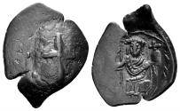 Ancient Coins - Latin Rulers of Constantinople, 1204-1261. Billon aspron Trachy (1.66 gm, 21mm). SB 2054