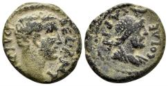 Ancient Coins - Judaea, Aelia Capitolina (Jerusalem). Antoninus Pius. 138-161 AD. AE 22mm (6.31 gm). Meshorer, Aelia Capitolina 13; BMC 13–14