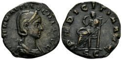 Ancient Coins - Herennia Etruscilla. Augusta, 249-251 AD. AE Sestertius (13.87 gm, 27mm). Rome mint, struck 250 AD. RIC IV 136b