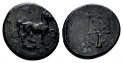 Ancient Coins - Karia, Mylasa. 3rd-2nd century BC. AE 13mm (1.59 gm). SNG Helsinki 231