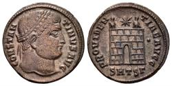 Ancient Coins - Constantine I , 307-337 AD. AE Nummus (2.81 gm, 19mm). Thessalonica mint, 326-328 AD. RIC 153