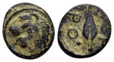 Ancient Coins - Thracian Chersonese. Circa 350-309 BC. AE 13mm (1.86 gm). SNG Copenhagen 845