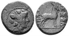 Ancient Coins - Macedon. Thessalonika. 158-149 BC. AE 19mm (5.51 gm). SNG Copenhagen 366