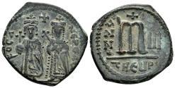 Ancient Coins - Phocas, 602-610. AE Follis (10.52 gm, 27mm). Theoupolis (Antioch). SB 671