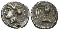 Ancient Coins - Pontos, Amisos (as Peiros). Circa 435-370 B.C. AR Siglos (5.80 g, 19mm). Dian..., magistrate. HGC 7, 229