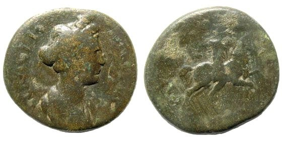 Ancient Coins - Lydia, Sardeis. Trajan for Marciana. 98-117 AD. AE 20mm  (4.59 gm). BMC 132; SNG von Aulock 3150. Rare