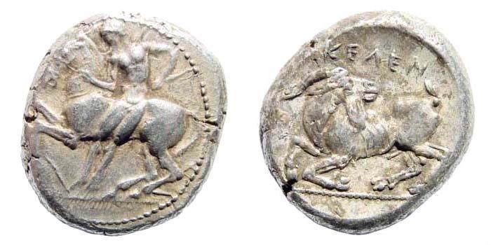 Ancient Coins - Kilikia, Kelenderis. Circa 410-375 BC. AR Stater (10.82 gm, 20mm). SNG France 51