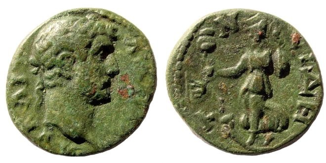 Ancient Coins - Pamphylia, Side. Hadrian, 117-138 AD. AE 20mm (4.18 gm). Lindgren 1160, Weber 3765