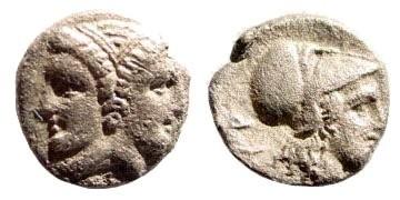 Ancient Coins - Mysia, Lampsakos. Circa 390-330 BC. AR Trihemiobol (1.09 gm, 11mm). Sear 3893; SNG France 1195