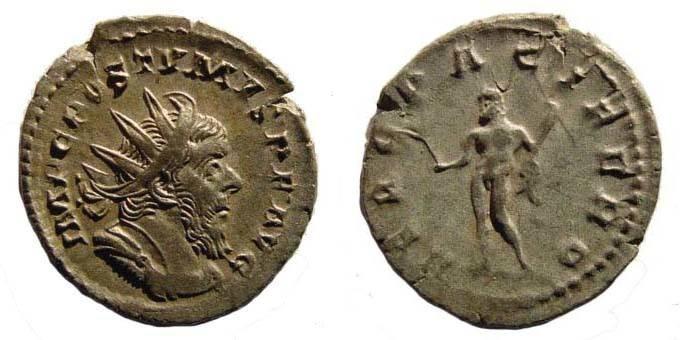 Ancient Coins - Postumus, Antoninianus, Hercules