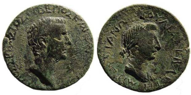 Ancient Coins - Cilicia, Augusta, Tiberius and Livia, AE 27.22 mm
