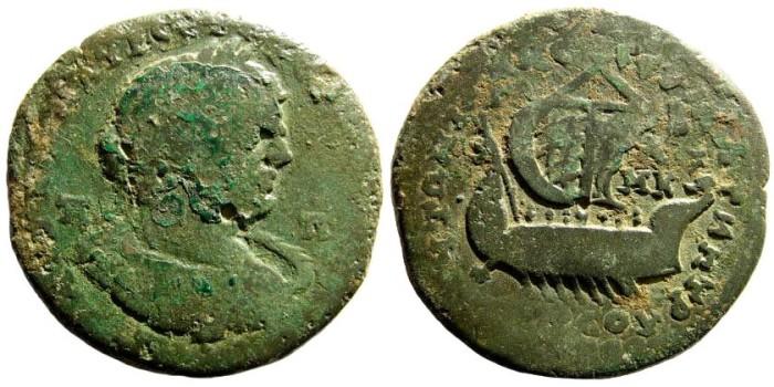 Ancient Coins - Cilicia, Tarsos. Caracalla, 197-217 AD. AE 35mm (20.08 gm). SNG BN Paris 1508 (same dies)