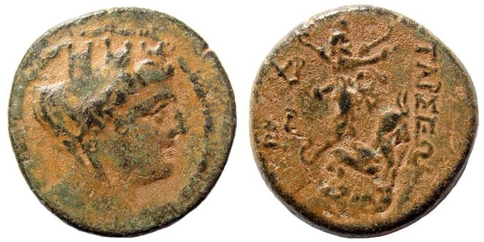 Ancient Coins - Cilicia, Tarsos. 164 BC and later. AE 21mm (5.60 gm). SNG France 1303