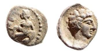Ancient Coins - Cilicia, Tarsos. Circa 370 BC. AR Obol (0.73 gm, 10mm). SNG Levante 65; SNG France 239