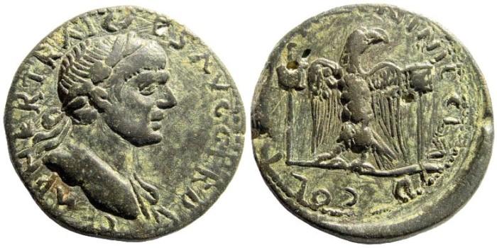Ancient Coins - Kilikia, Ninika-Klaudiopolis. Trajan, 98-117 AD. AE 24mm (10.93 gm, 12h). SNG France 781 (same obv. die); SNG Levante 601 (same dies)