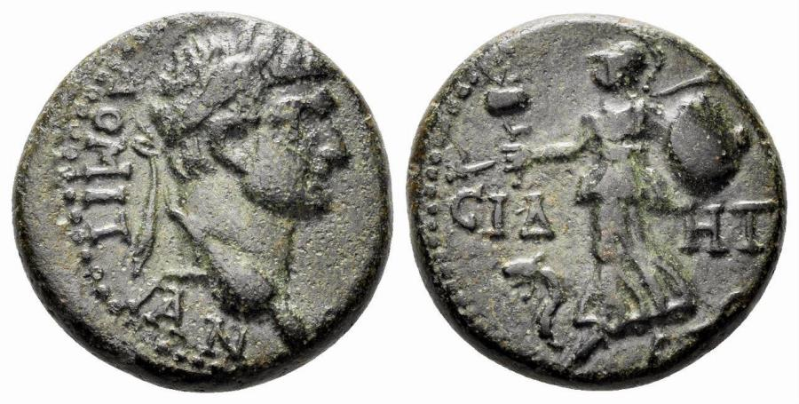 Ancient Coins - Pamphylia, Side. Domitian. 81-96 AD. AE 18mm (5.72 gm). RPC II 1527