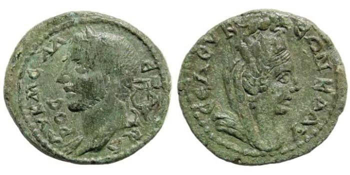 Ancient Coins - Cilicia, Seleukeia. Severus Alexander. 222-235 AD. AE 21mm (4.67 gm). SNG Levante 760 (same dies); SNG France 2, 1007 (same dies)