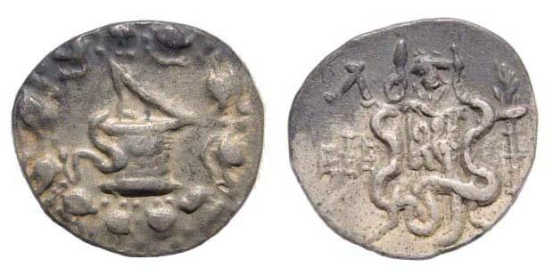 Ancient Coins - Ionia, Ephesus, Cistophoric Tetradrachm, head stag
