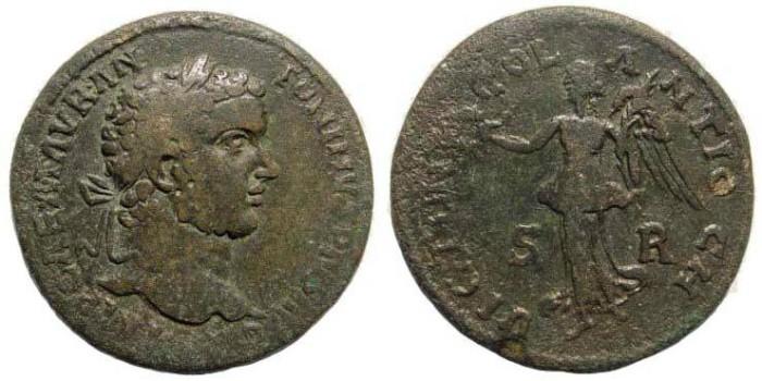 Ancient Coins - Pisidia, Antiochia, Caracalla, 198-217 AD (23.17 gm, 32.08 mm). SNG France 1164