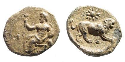 Ancient Coins - Kilikia, Myriandros. Mazaios. Satrap of Cilicia, 361/0-334 BC. AR Obol (0.69 gm, 11mm). SNG France 435; SNG Levante 191