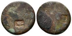 Ancient Coins - Judaea. Tenth Roman Legion. AE 20mm (6.21 gm). countermark: galley (emblem of the Legio X Fretensis). Meshorer 381b