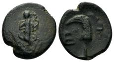 Ancient Coins - Pisidia, Etenna. 1st century AD. AE 17mm (4.06 gm). Hans von Aulock, Pisidien, 516-27