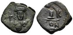 Ancient Coins - Constantine IV Pogonatus, 668-685. AE Decanummium (4.94 gm, 23mm). Constantinople mint. 668-673. SB 1182