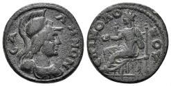Ancient Coins - Lydia, Sala. 193-211 AD. AE 19mm (3.99 gm, 18.5mm). SNG Copenhagen 431; BMC 22
