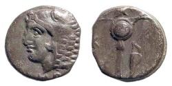 Ancient Coins - Bithynia. Herakleia Pontica. Time of Klearchos. Circa 364-352 BC. AR Obol (0.81 gm, 10mm). SNG BM Black Sea 1593